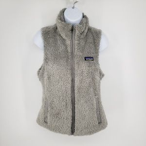 Patagonia Fuzzy teddy bear gray vest small